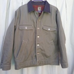 Other - Khaki heavy jacket button up